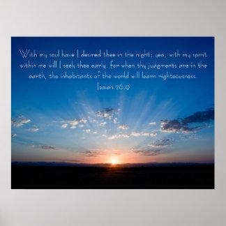 Poster hermoso del 26:9 de Isaías del verso de la