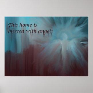 Poster hermoso del ángel, ángel de guarda para el