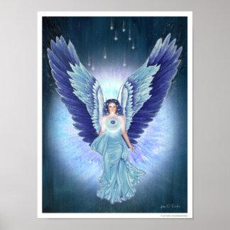 Poster hermoso del ángel de la turquesa