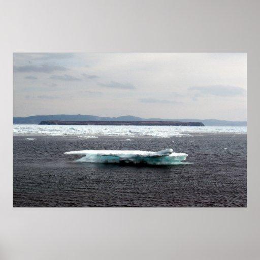 Poster hermoso del iceberg