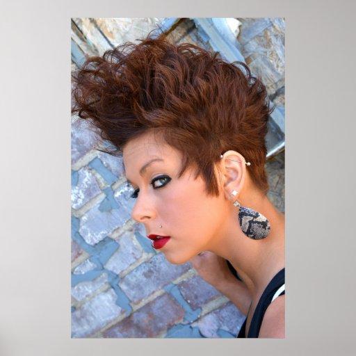 Poster hermoso del pelo corto