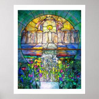 Poster hermoso del vitral