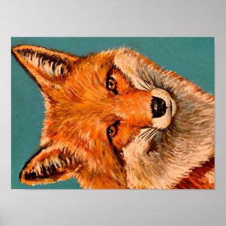 Poster hermoso del zorro