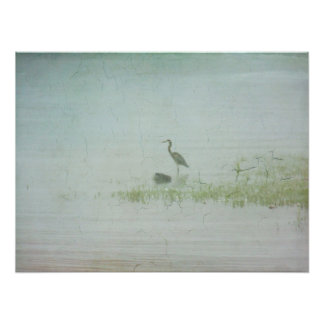 Poster-Heron in the Mist Poster