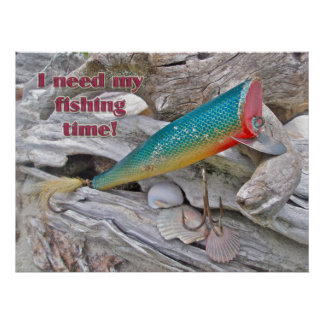Poster Hickey Do Beachcomber Vintage Fishing Lure