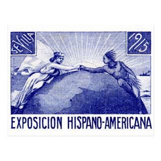 Poster hispanoamericano de la expo 1915 tarjetas postales