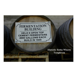 POSTER: Historic Rotta Winery in Templeton Poster