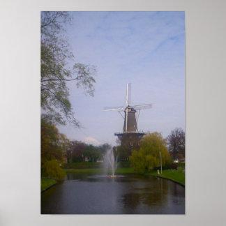 Poster holandés del molino de viento