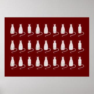 Poster horizontal Rojo-Observado del modelo de las