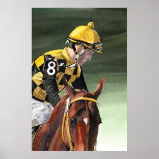 Poster-horse racing jockey