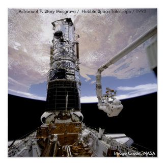 Poster / Hubble / Endeavor / Astronaut Musgrave