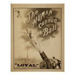Poster humano LEAL del VODEVIL del acto de la bola