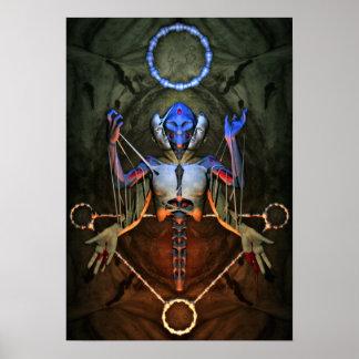 Poster humano obsoleto del juego