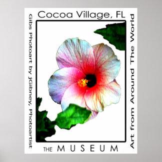 Poster Hybiscus p3 del pueblo del cacao El MUSEO Z