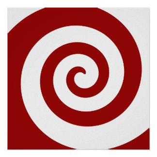 Poster, Hypno Spiral, Change The Size, Add Frame! Poster