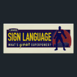"""Poster. I know ASL. Poster<br><div class=""""desc"""">A classroom motivational poster. Or just for personal use.</div>"""