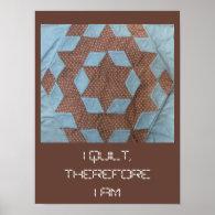 Poster - I quilt ... castle pattern