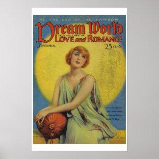 Poster ideal de la portada de revista del vintage