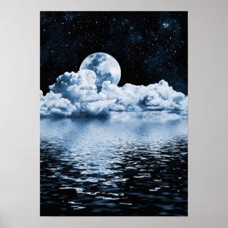 Poster ideal del espacio del océano