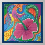 Poster ideal del hibisco