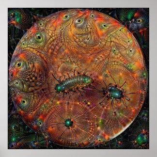 Poster ideal profundo de Marte del planeta Póster