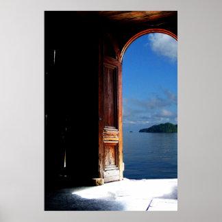 Poster ideal tropical de la entrada