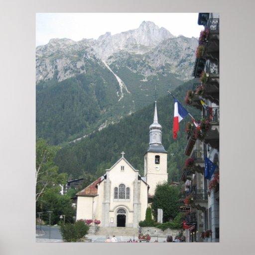 Poster: Iglesia de Chamonix Póster