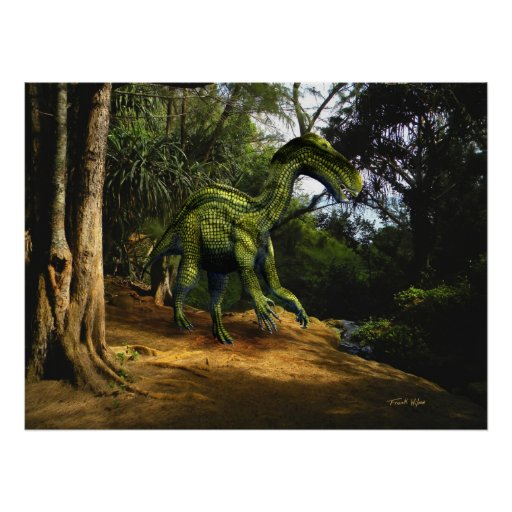 Poster ~ Iguanodon In The Jungle