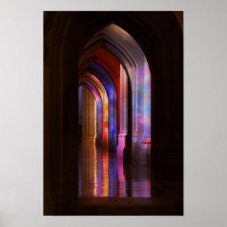 Poster - iluminación del vitral de la catedral