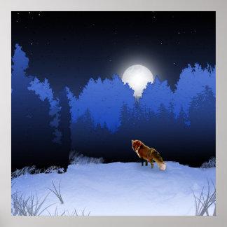 Poster iluminado por la luna