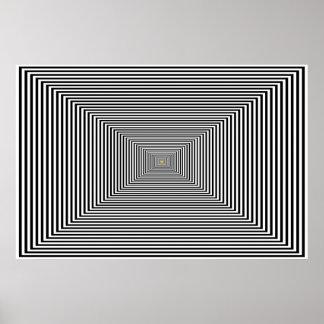 Poster - ilusión óptica suave