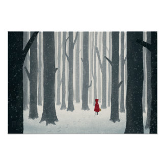Poster ilustrado Caperucita Rojo