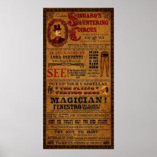 """Poster imaginario del circo de Tirahvaalta 12"""" x 2"""