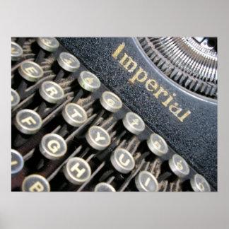 Poster imperial antiguo de la máquina de escribir