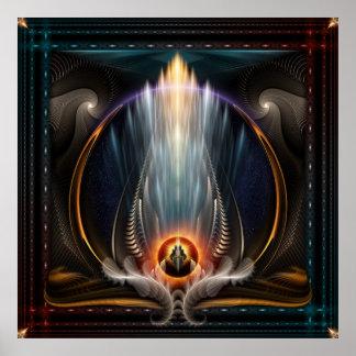 Poster imperial de la pared del arte del fractal