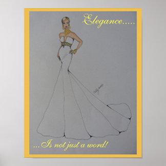 "Poster imponente de la moda titulado ""elegancia "" póster"