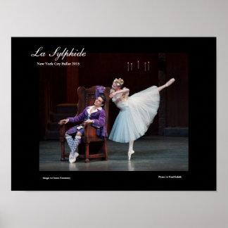 poster imponente para el ballet del LA SYLPHIDE