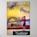 Poster/impresión: Aeroplanos del juguete de Hamley