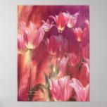 Poster/impresión altos del arte de los tulipanes