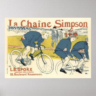 Poster impresión Anuncio de la cadena de la bicic