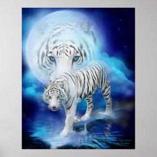 Poster/impresión blancos del arte de la luna del t