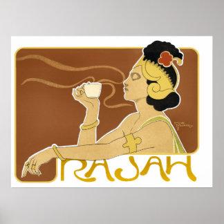 Poster/impresión: Café de Rajah del vintage