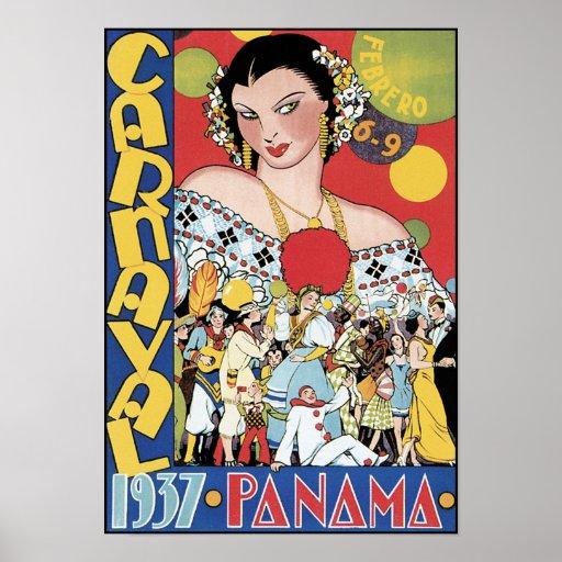 Poster/impresión: Carnaval Panamá 1937 Póster
