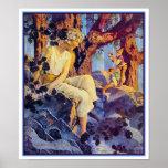 Poster/impresión: Chica con los duendes - Maxfield