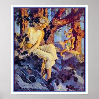 Poster impresión Chica con los duendes - Maxfield