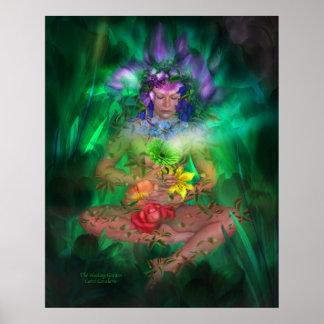Poster/impresión curativos del arte del jardín
