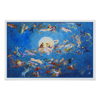 """Poster/impresión: """"Danza alrededor de la luna"""" por"""