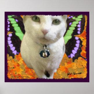Poster/impresión de hadas del gato póster