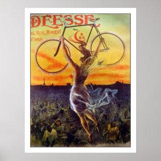 Poster/impresión de la bicicleta: ~ francés del po