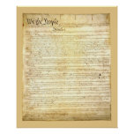 Poster/impresión de la constitución de Estados Uni